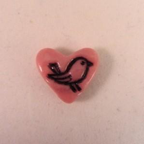 Magneet hartje vogeltje