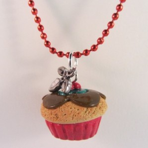 Ketting Kerst cupcake 2