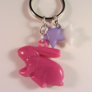 Roze konijn (kunststof)
