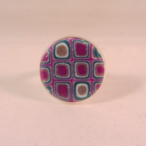 Ring 'purple glamour' 16 mm