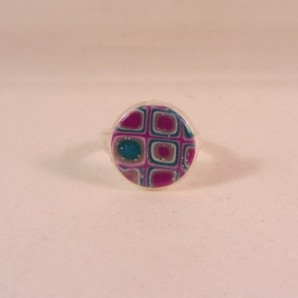 Ring 'purple glamour' 12 mm