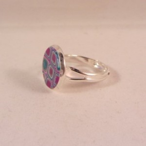 Ring 'purple glamour' 12 mm