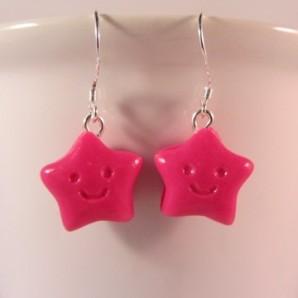 Stars hot pink