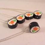 Sushi ketting zilver
