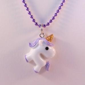 Unicorn knststf paars paars