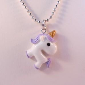 Unicorn knststf zilver paars