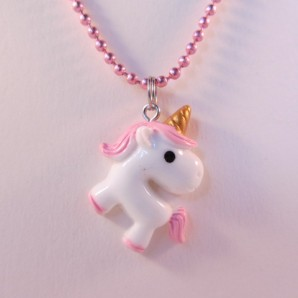 Unicorn knststf roze roze
