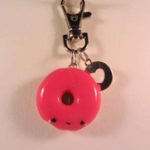 donut fluo roze