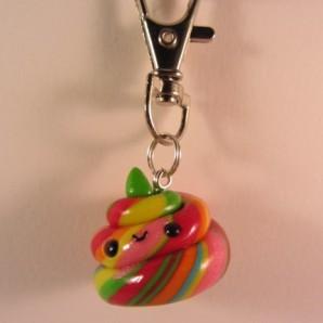 Rainbow Poopie 1 keychain