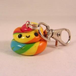 Rainbow Poopie 2 keychain