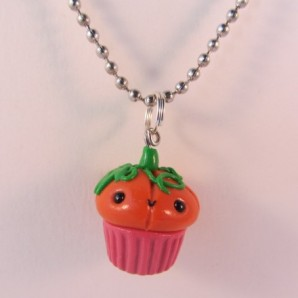 Pompoen cupcake ketting red