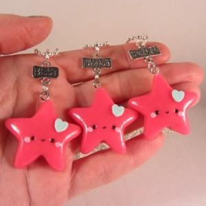 BFF triple star neon pink