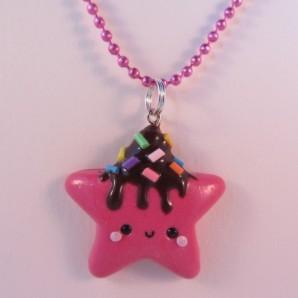 Star pink - choco icing