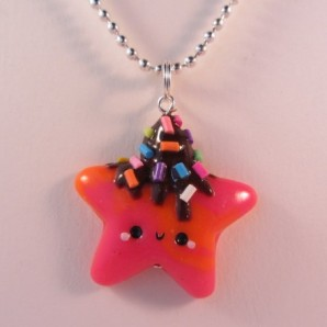 Ketting neon star chocodrip