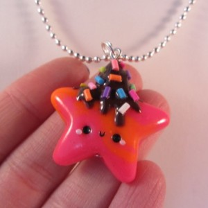 Ketting neon star chocodrip2)