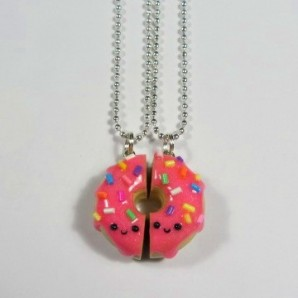 BFF pink donut sprinkles 2